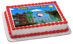 Terraria 1 Edible Birthday Cake Topper OR Cupcake Topper, Decor - Edible Prints On Cake (Edible Cake &Cupcake Topper)