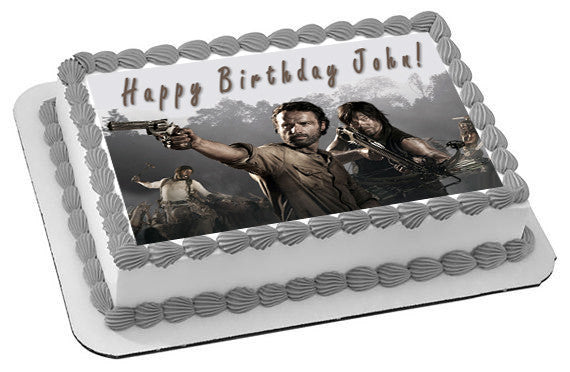 walking dead birthday cake the walking dead 1 edible birthday cake or cupcake toppe 8345