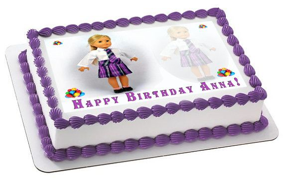American Girl (2) - Edible Cake Topper, Cupcake Toppers, Strips