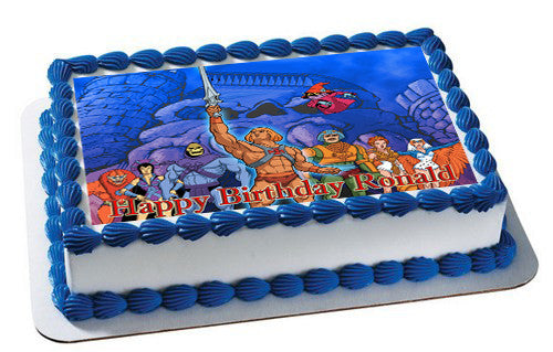 He Man And The Masters Edible Birthday Cake Topper OR Cupcake Topper, Decor - Edible Prints On Cake (Edible Cake &Cupcake Topper)