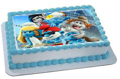Smurfs 2  1 Edible Birthday Cake Topper OR Cupcake Topper, Decor - Edible Prints On Cake (Edible Cake &Cupcake Topper)