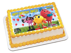 Pac Man Edible Birthday Cake Topper OR Cupcake Topper, Decor - Edible Prints On Cake (Edible Cake &Cupcake Topper)