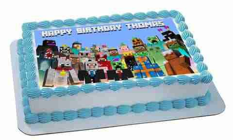 MINECRAFT Characters 5 - Edible Cake Topper OR Cupcake Topper, Decor