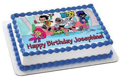 Teen Titans Go 3 Edible Birthday Cake Topper OR Cupcake Topper, Decor - Edible Prints On Cake (Edible Cake &Cupcake Topper)