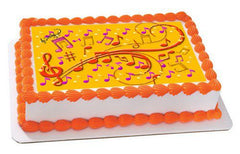 Music Note Edible Birthday Cake Topper OR Cupcake Topper - Edible Prints On Cake (Edible Cake &Cupcake Topper)