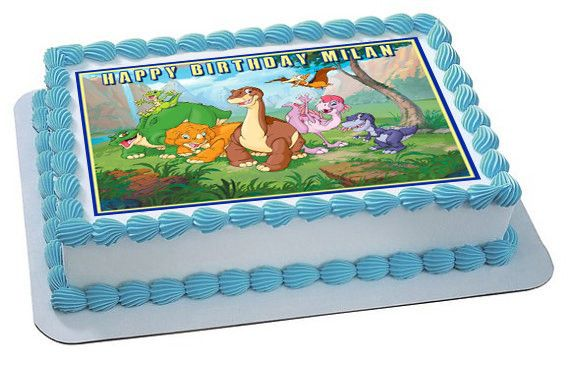 The Land Before Time Edible Birthday Cake Or Cupcake