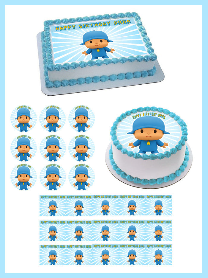 Wondrous Pocoyo 2 Edible Birthday Cake Or Cupcake Topper Edible Prints On Funny Birthday Cards Online Elaedamsfinfo