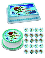 How the Grinch Stole Christmas 2 Edible Birthday Cake Topper OR Cupcake Topper, Decor - Edible Prints On Cake (Edible Cake &Cupcake Topper)