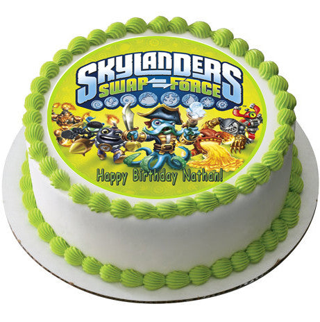 Skylanders Swap Force 2 Edible Birthday Cake OR Cupcake ...