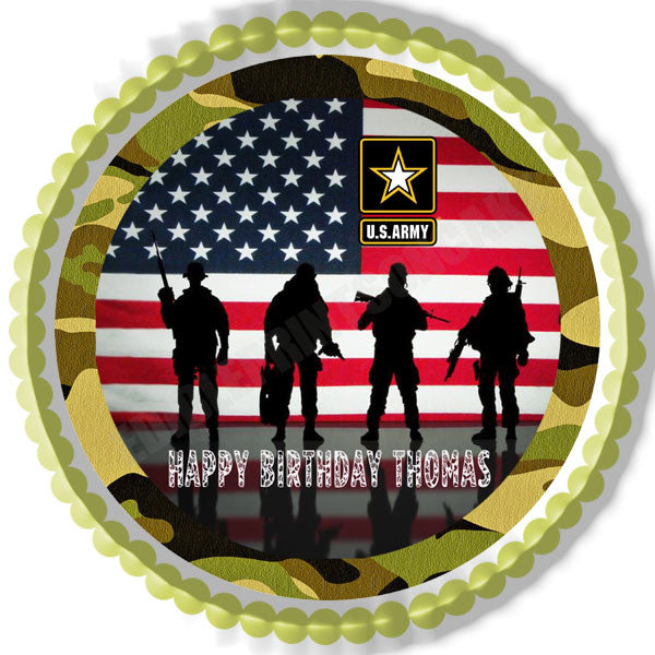 Army Birthday Cake Topper