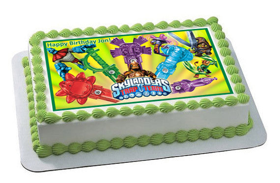 Skylanders Trap Team 2 Edible Birthday Cake Topper OR Cupcake Topper, Decor - Edible Prints On Cake (Edible Cake &Cupcake Topper)