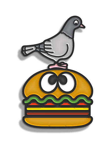 HungryEyesNY x Staple Pigeon Pin