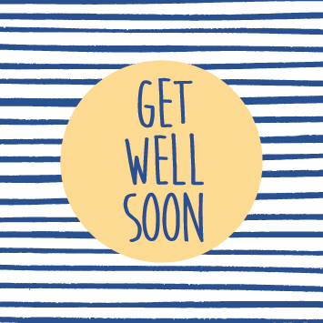 Striped Get Well