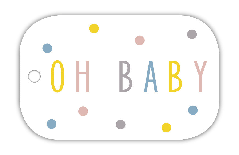 TCS Gift Tag - Oh baby spotty