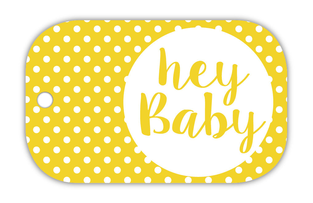 TCS Gift Tag - Hey baby spots