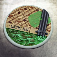 Scenic Bases: 100mm Sewer Works, Round Lip (1)