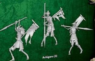 Ashigaru (3 Single Models) from the Eternal Servitude M3E - WYR23223