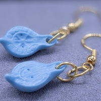 Roman Lamps - Blue Resin Earrings