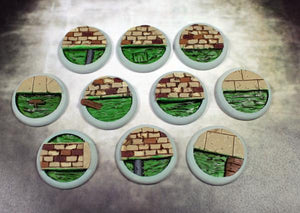 Scenic Bases: 30mm Sewer Works, Round Lip (10)