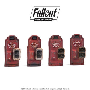 Fallout RPG: Wasteland Warfare - Nuka Cola Machines (4 Miniatures)