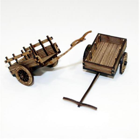 Peasant's Ox Cart 28mm