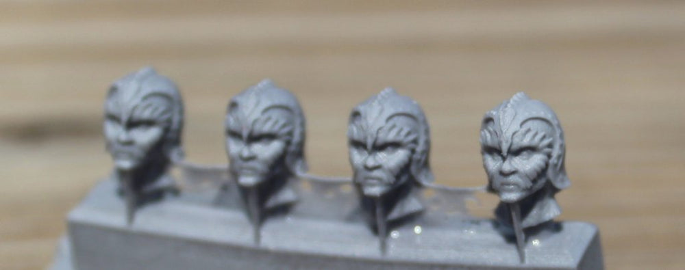 Ridges (4 Heads) - Custom Alien Heads for SW: Legion