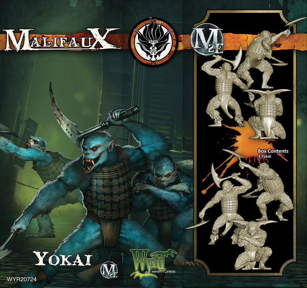 Yokai M2E -( Box of 3 miniatures)  WYR20724-With M3E Cards