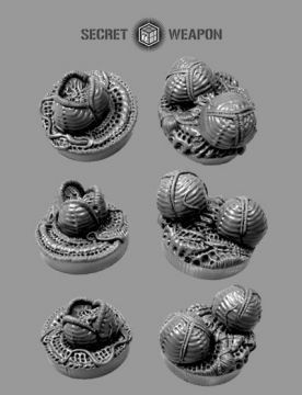 25mm Alien Invasion Objective Markers