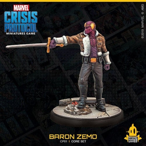 Baron Zemo from the Crisis Protocol Core Set