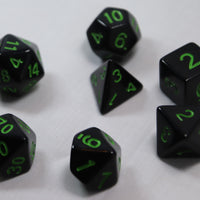 Opaque Anthracite/Lime RPG Polyhedral Dice Set
