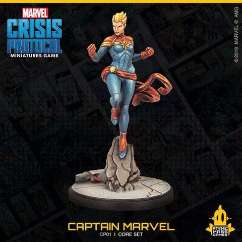 Captain Marvel from the Crisis Protocol Core Set