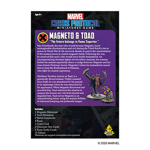 Marvel Crisis Protocol: Magneto & Toad