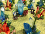 Small Crystal Scatter Terrain Pack (8 Pcs)-NEW FORMULA !