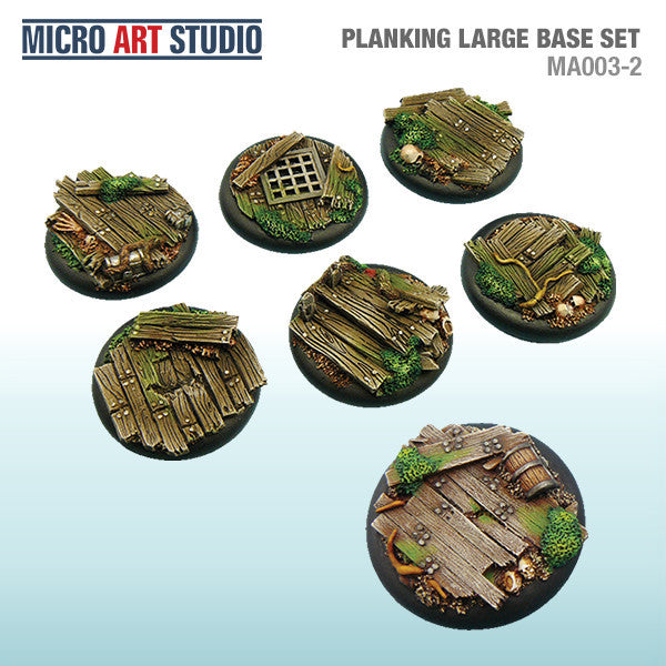 Planking Large Base Set of 7 (40mm/50mm)