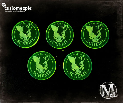 Malifaux Markers - Faction and Condition