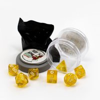 Pizza Dungeon Dice: Lucky Clear Yellow (7-die set)