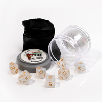 Pizza Dungeon Dice: Lucky Gem White (7-die set)