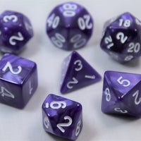 Marbled Solferino/White RPG Polyhedral Dice Set