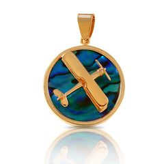 "Aero-Gold ""Sea Opal"" Abalone Pendants"