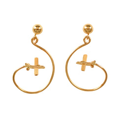 Aero-Gold Earrings