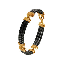 Black Titanium Cable Bracelets