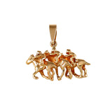 00055 - Triple Race Horse Pendant