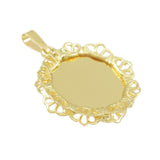 "1 3/8"" Engravable Disc with Filigree Border - Lone Palm Jewelry"