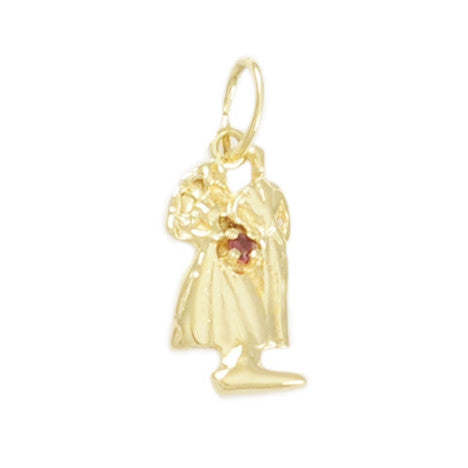 Small Bride & Groom with Ruby Gemstone Bouquet - Lone Palm Jewelry