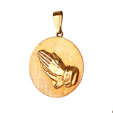 "00514 - 1 1/8"" Praying Hands Pendant"