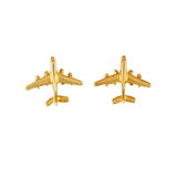 00789 - Jet Airplane Stud Earrings - 9/16""