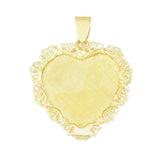 "1 1/4"" Engravable Heart with Filigree Border - Lone Palm Jewelry"