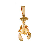 "02932 - 7/8"" Lobster Pendant - Lone Palm Jewelry"