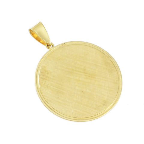 "3/4"" Engravable Textured Round Disc - Lone Palm Jewelry"