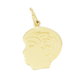 "5/8"" Engraved Boy's Head - Lone Palm Jewelry"
